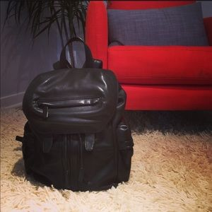 Alexander Wang Matte Black Leather Marti Backpack