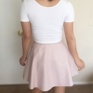 b0f273d3eb3e American Apparel Skirts - American Apparel Pink Leather Skirt 50s Style
