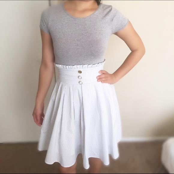 8c60de5344 Majestic Legon Dresses & Skirts - Japanese Corset like high waisted blue  strip skirt
