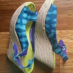 Calypso St. Barth tie-dye wedges shoes 10