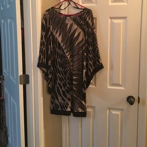 Black and beige short dress