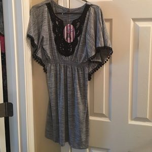 Tops - Black and grey dress/tunic