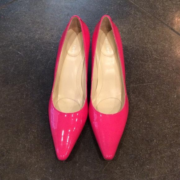 calvin klein pink pumps