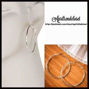 ❗️1-HOUR SALE❗️EARRINGS Silver Large Round Hoops