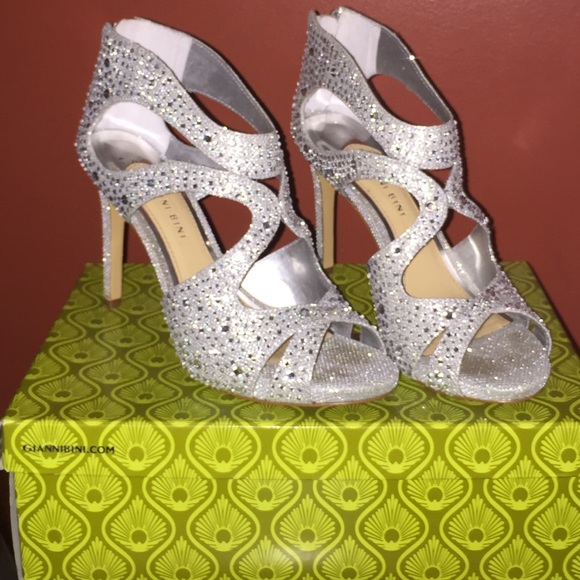 gianni bini glitter heels