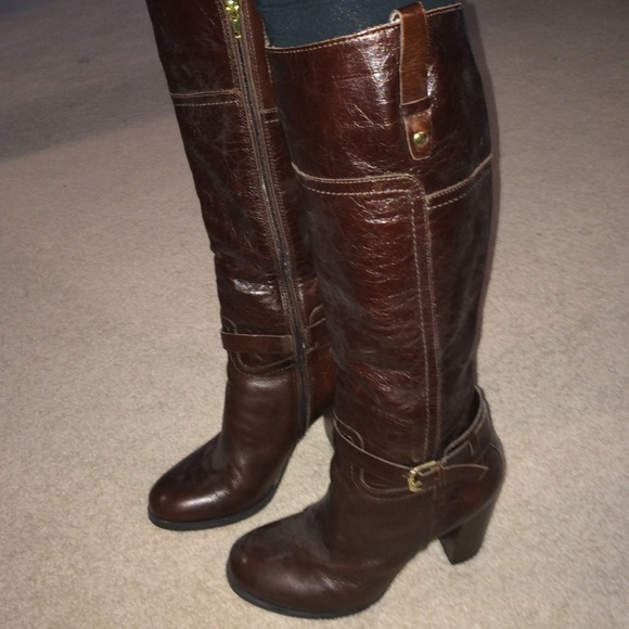 Tall Leather Brown Boots