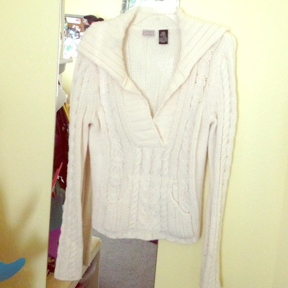Arizona Jean Company Sweaters Juniors White Winter Sweater Poshmark