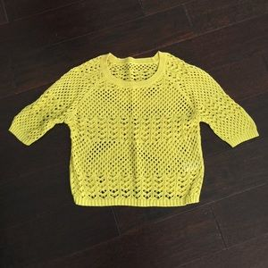 Yellow knitted crop top