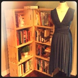 Teal blue wrap dress