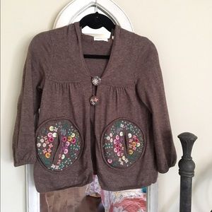 NWOT Anthro Sleeping On Snow Autumn Song Cardi