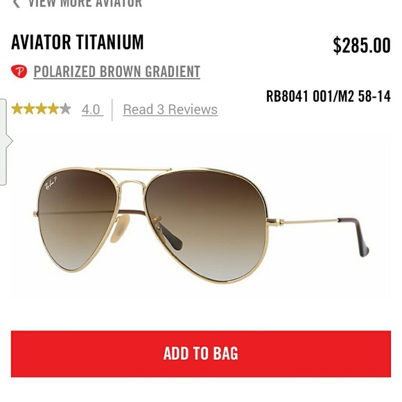 faf2094c1cb ... closeout ray ban aviator titanium rb8041 sunglasses c1162 127bf