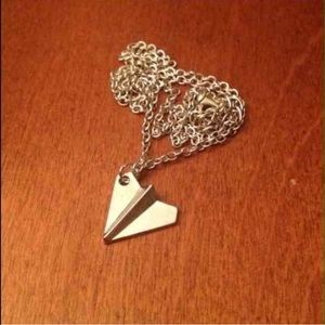Jewelry - Stainless steel; airplane charm; New in package
