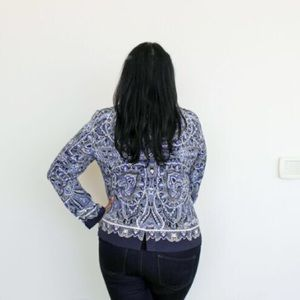 Apt. 9 Jackets & Coats - Blue and white filigree blazer