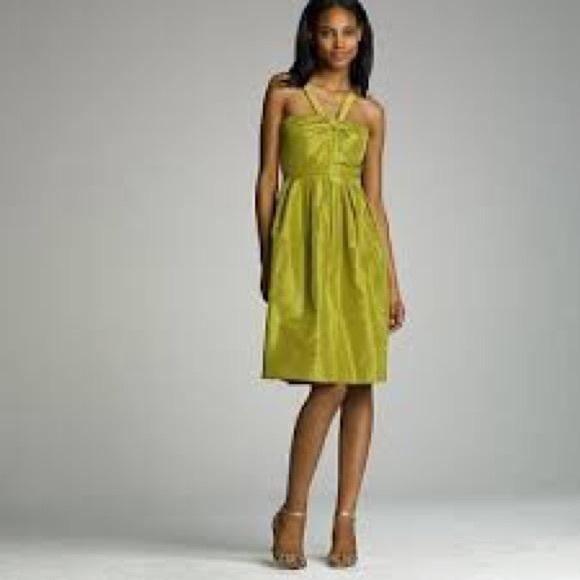 NWT Silk taffeta halter sanglé dress NWT