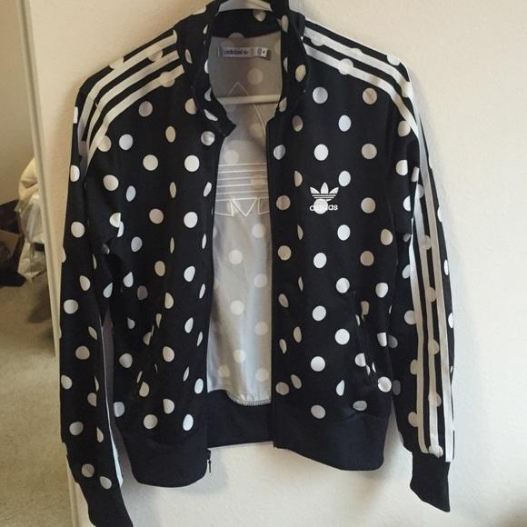 ef85442a1f64 Adidas Jackets   Blazers - Adidas originals polka dot track jacket