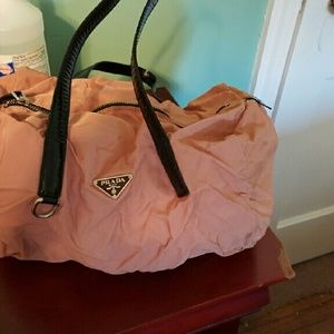 prada messenger handbags - Pink Prada nylons on Poshmark