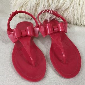 RED Valentino Shoes - Red Valentino red bow jelly sandals