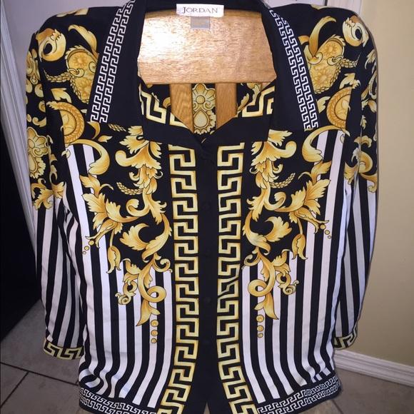 Jordan Tops , Vintage Jordan Versace style blouse