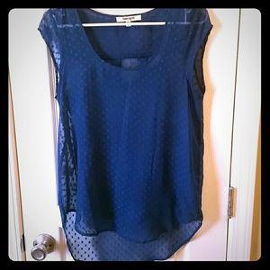 Super cute navy blue top