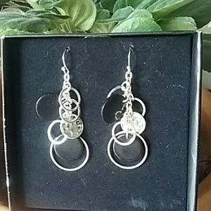 Jewelry - Black and Silver Earrings