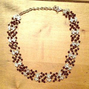 Jewelry - Black and Silver Choker