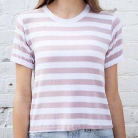 45 off brandy melville tops pink striped brandy