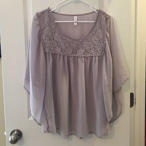Gray Xhilaration blouse