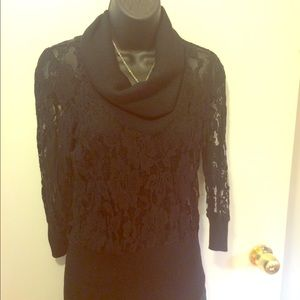 Rampage lacy black layering sweater