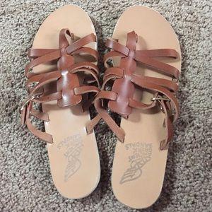 Ancient Greek Sandals Shoes - ❗️Ancient Greek Sandals Brown Slide Ons