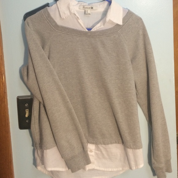 Sweater With Built In Collar