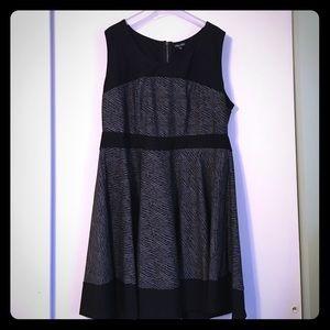 City Chic Black & Zebra Print Skater Dress