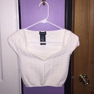 0a2c4fee5dbbe bebe Tops - Bebe Textured Crop Top in White