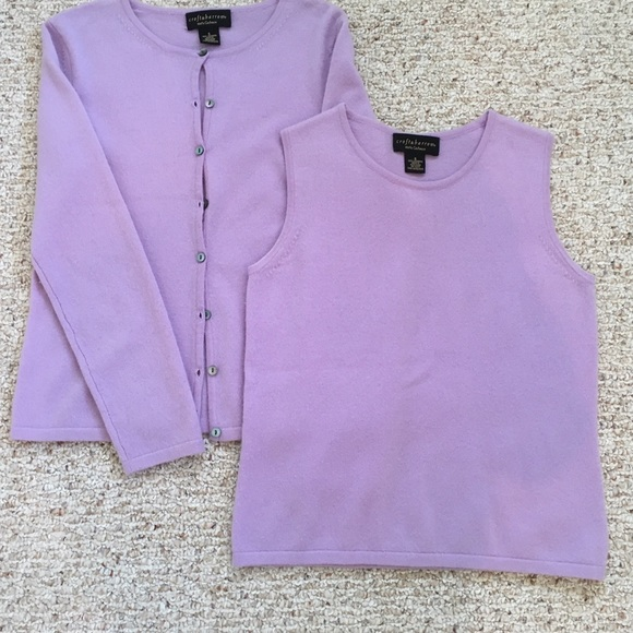 81% off Croft & Barrow Sweaters - Cashmere Sweater Set Purple ...