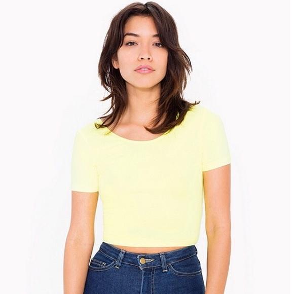 bdf37e9e25163 American Apparel Tops - neon yellow American Apparel crop top