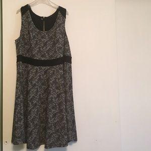 🌺HP 7/25!!🌺 City Chic Black Lace Skater Dress!