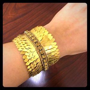 Deepa Gurnani Jewelry - 🎉HP🎉 Deepa Gurnani gold-tone wide bracelet