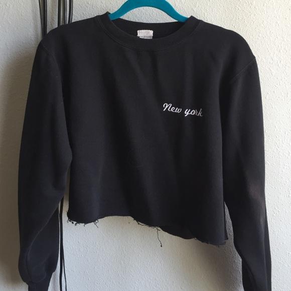 Brandy Melville Tops New York Cropped Sweater Poshmark