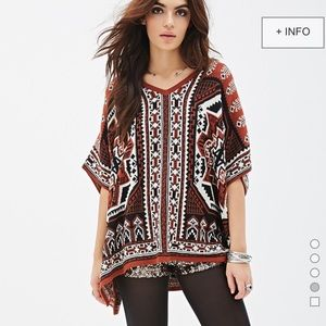 Southwestern-Patterned Poncho
