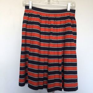 100% silk striped J. Crew skirt