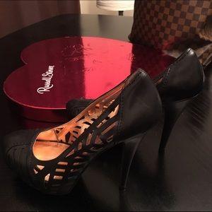 Bcbg black high heel pumps
