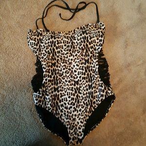 Leopard 1 piece swimsuit