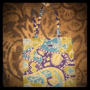 Spring old navy beach bag small tote flowered NWTS