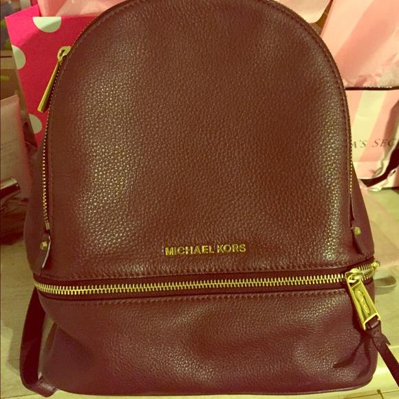 michael kors bags deep maroonburgundy mk backpack poshmark rh poshmark com