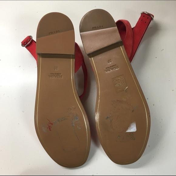 78 off prada shoes 24 hr sale prada sandals from elsa 39 s closet on poshmark. Black Bedroom Furniture Sets. Home Design Ideas