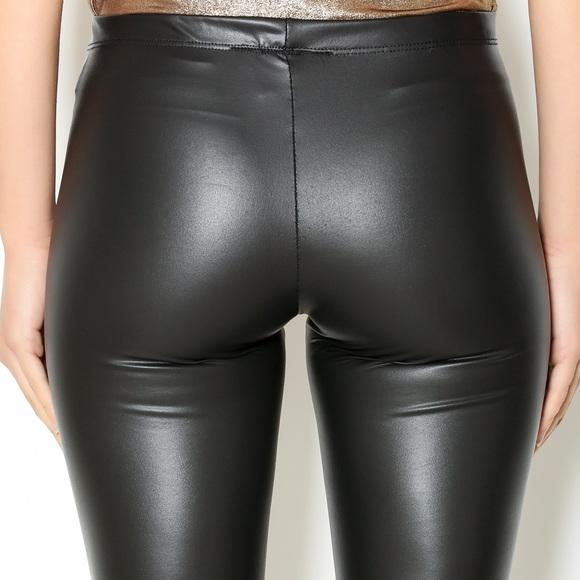 8474645fd47fc See You Monday Pants   Faux Leather Leggings   Poshmark