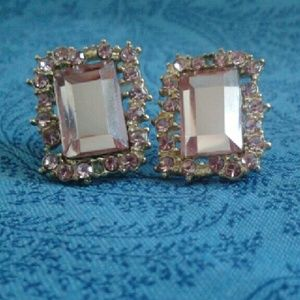 Pink Victorian Classy Stud Earrings