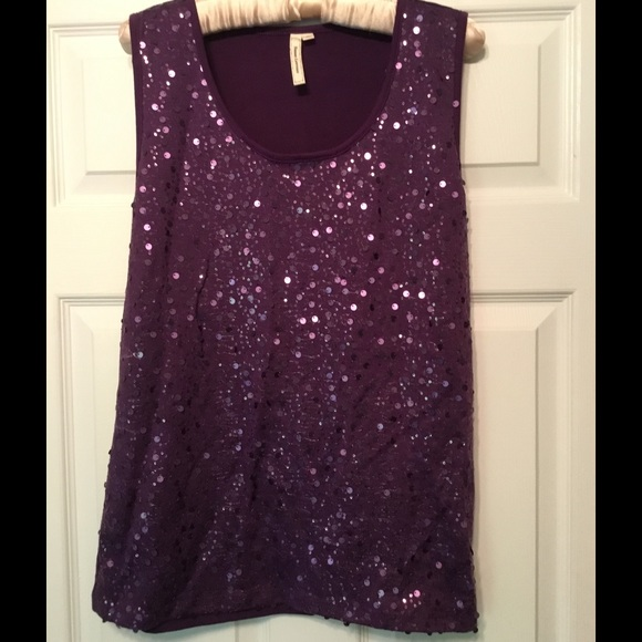 a0c19c77 SPARKLY...purple tank top with great sequins! M_570ae003c28456f4b40118f6