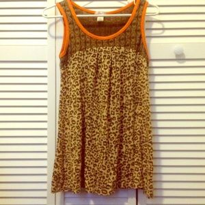 Lux Leopard and Owl Print babydoll