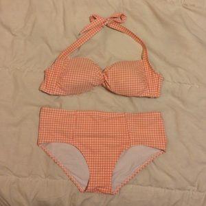 Vintage Gingham Bikini Top & Hi-Rise Bikini Bottom