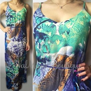 Multi Colored Stunning Maxi Dress
